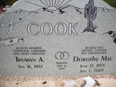 COOK, DOROTHY MAE - Pima County, Arizona | DOROTHY MAE COOK - Arizona Gravestone Photos
