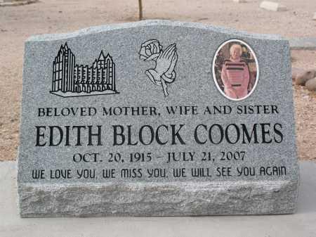 BLOCK COOMES, EDITH - Pima County, Arizona | EDITH BLOCK COOMES - Arizona Gravestone Photos