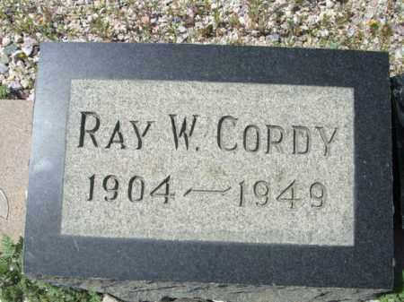 CORDY, RAY W. - Pima County, Arizona | RAY W. CORDY - Arizona Gravestone Photos