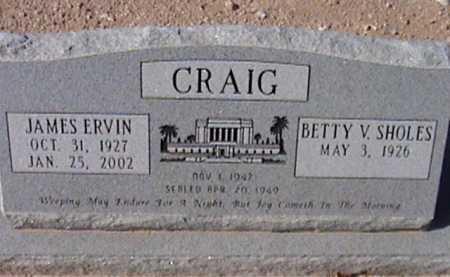 CRAIG, JAMES ERVIN - Pima County, Arizona   JAMES ERVIN CRAIG - Arizona Gravestone Photos