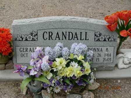 CRANDALL, DONNA B - Pima County, Arizona | DONNA B CRANDALL - Arizona Gravestone Photos