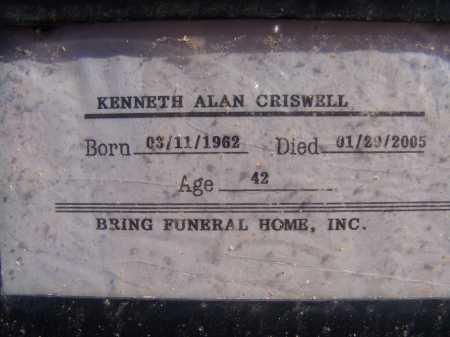 CRISWELL, KENNETH ALAN - Pima County, Arizona | KENNETH ALAN CRISWELL - Arizona Gravestone Photos