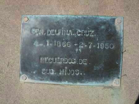 CRUZ, SRA. DELFINA - Pima County, Arizona | SRA. DELFINA CRUZ - Arizona Gravestone Photos