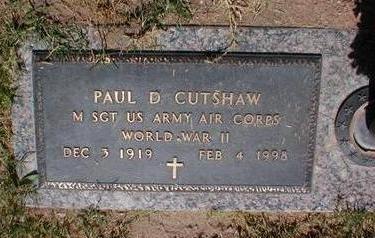 CUTSHAW, PAUL D. - Pima County, Arizona | PAUL D. CUTSHAW - Arizona Gravestone Photos