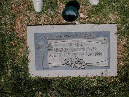 DAER, SHARON ARLOAH - Pima County, Arizona | SHARON ARLOAH DAER - Arizona Gravestone Photos