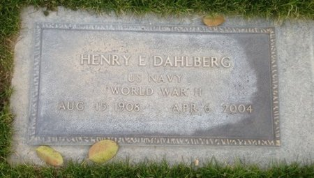 DAHLBERG, HENRY E. - Pima County, Arizona | HENRY E. DAHLBERG - Arizona Gravestone Photos