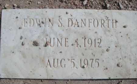 DANFORTH, EDWIN S. - Pima County, Arizona   EDWIN S. DANFORTH - Arizona Gravestone Photos
