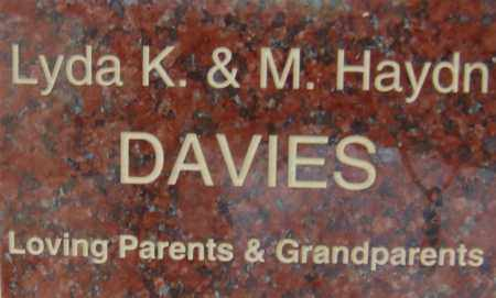 DAVIES, M. HAYDN - Pima County, Arizona | M. HAYDN DAVIES - Arizona Gravestone Photos