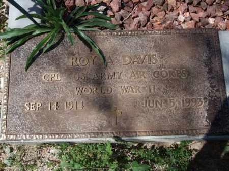 DAVIS, ROY A. - Pima County, Arizona | ROY A. DAVIS - Arizona Gravestone Photos