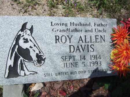 DAVIS, ROY ALLEN - Pima County, Arizona | ROY ALLEN DAVIS - Arizona Gravestone Photos