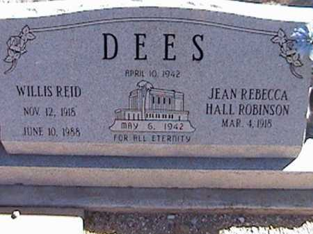 DEES, JEAN REBECCA HALL - Pima County, Arizona | JEAN REBECCA HALL DEES - Arizona Gravestone Photos