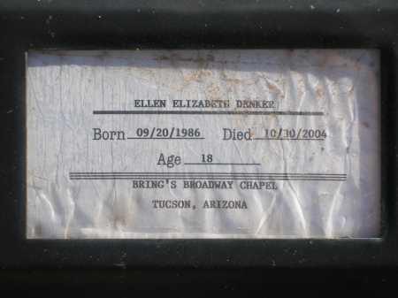 DENKER, ELLEN ELIZABETH - Pima County, Arizona | ELLEN ELIZABETH DENKER - Arizona Gravestone Photos