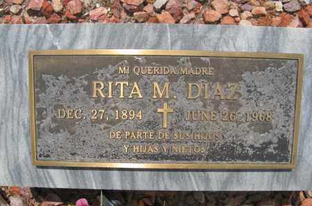 DIAZ, RITA M. - Pima County, Arizona | RITA M. DIAZ - Arizona Gravestone Photos