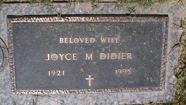 DIDIER, JOYCE M. - Pima County, Arizona   JOYCE M. DIDIER - Arizona Gravestone Photos