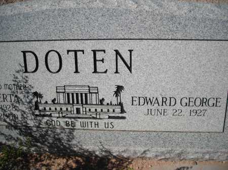 DOTEN, EDWARD GEORGE - Pima County, Arizona   EDWARD GEORGE DOTEN - Arizona Gravestone Photos