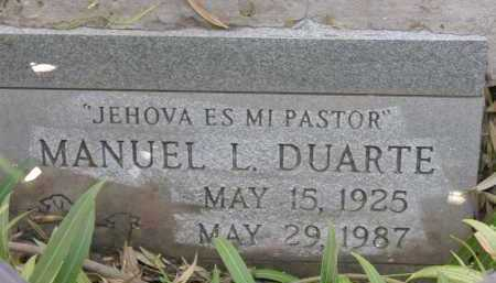 DUARTE, MANUEL L. - Pima County, Arizona | MANUEL L. DUARTE - Arizona Gravestone Photos