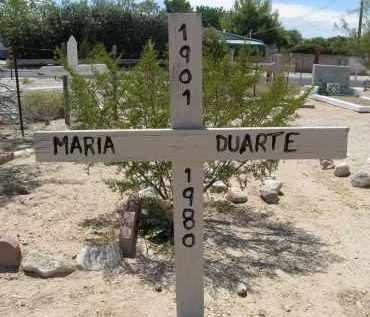 DUARTE, MARIA - Pima County, Arizona   MARIA DUARTE - Arizona Gravestone Photos