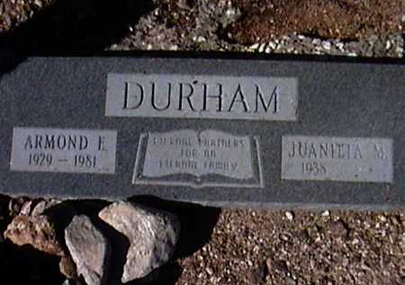 DURHAM, ARMOND E. - Pima County, Arizona | ARMOND E. DURHAM - Arizona Gravestone Photos