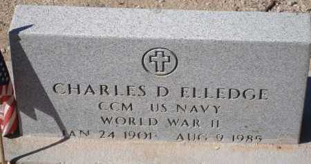ELLEDGE, CHARLES D. - Pima County, Arizona | CHARLES D. ELLEDGE - Arizona Gravestone Photos