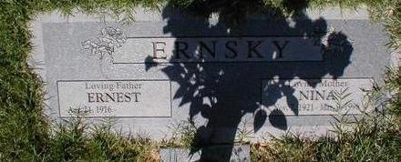 ERNSKY, NINA - Pima County, Arizona | NINA ERNSKY - Arizona Gravestone Photos