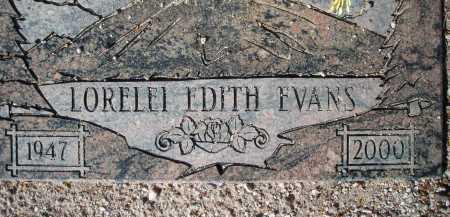 EVANS, LORELEI EDITH - Pima County, Arizona | LORELEI EDITH EVANS - Arizona Gravestone Photos