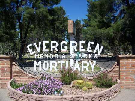 *EVERGREEN, CEMETERY GATE - Pima County, Arizona | CEMETERY GATE *EVERGREEN - Arizona Gravestone Photos