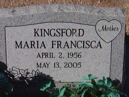 FRANCISCA, KINGSFORD MARIA - Pima County, Arizona | KINGSFORD MARIA FRANCISCA - Arizona Gravestone Photos