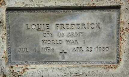 FREDERICK, LOUIE - Pima County, Arizona   LOUIE FREDERICK - Arizona Gravestone Photos