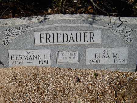 FRIEDAUER, ELSA M. - Pima County, Arizona | ELSA M. FRIEDAUER - Arizona Gravestone Photos