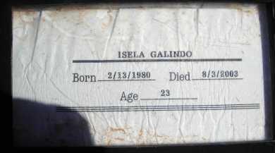 GALINDO, ISELA - Pima County, Arizona | ISELA GALINDO - Arizona Gravestone Photos