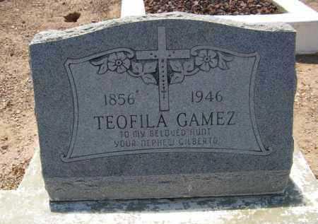 GAMEZ, TEOFILA - Pima County, Arizona | TEOFILA GAMEZ - Arizona Gravestone Photos