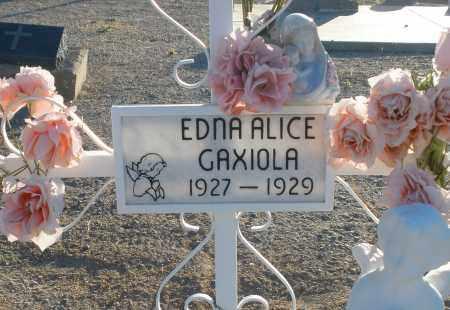 GDAXIOLA, EDNA ALICE - Pima County, Arizona | EDNA ALICE GDAXIOLA - Arizona Gravestone Photos