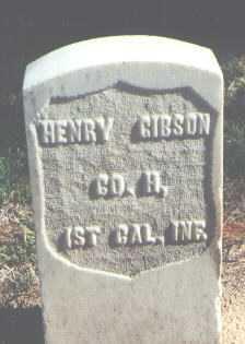 GIBSON, HENRY - Pima County, Arizona | HENRY GIBSON - Arizona Gravestone Photos