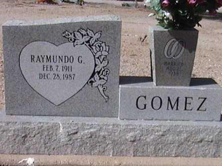 GOMEZ, RAYMUNDO G. - Pima County, Arizona   RAYMUNDO G. GOMEZ - Arizona Gravestone Photos