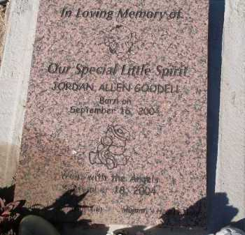 GOODELL, JORDAN ALLEN - Pima County, Arizona | JORDAN ALLEN GOODELL - Arizona Gravestone Photos