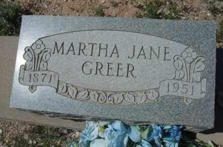 GREER, MARTHA JANE - Pima County, Arizona | MARTHA JANE GREER - Arizona Gravestone Photos