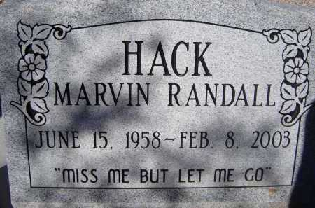 HACK, MARVIN RANDALL - Pima County, Arizona | MARVIN RANDALL HACK - Arizona Gravestone Photos
