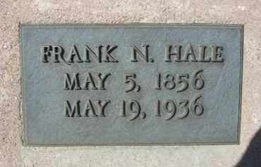 HALE, FRANK N. - Pima County, Arizona | FRANK N. HALE - Arizona Gravestone Photos