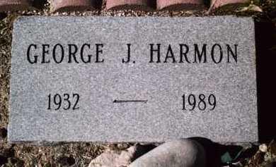HARMON, GEORGE J. - Pima County, Arizona | GEORGE J. HARMON - Arizona Gravestone Photos