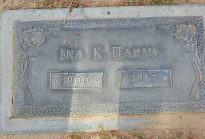 HARMS, INA K. - Pima County, Arizona | INA K. HARMS - Arizona Gravestone Photos