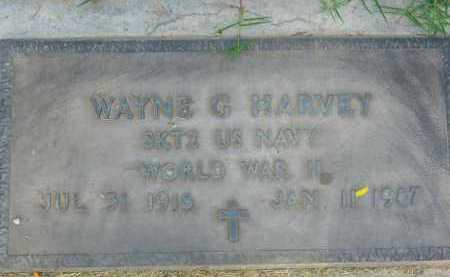 HARVEY, WAYNE G - Pima County, Arizona   WAYNE G HARVEY - Arizona Gravestone Photos