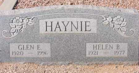 HAYNIE, GLEN E. - Pima County, Arizona | GLEN E. HAYNIE - Arizona Gravestone Photos