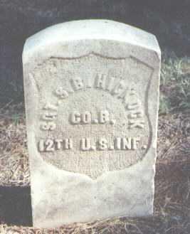 HICKOCK, S. B. - Pima County, Arizona   S. B. HICKOCK - Arizona Gravestone Photos