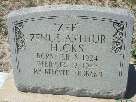 "HICKS, ZENUS ARTHUR ""ZEE"" - Pima County, Arizona 