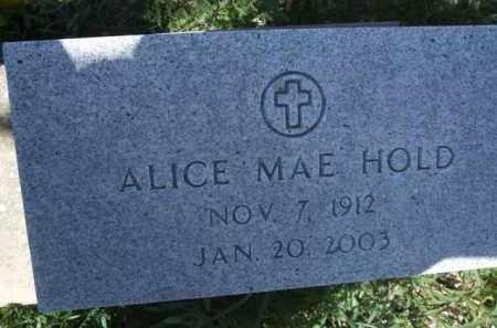 HOLD, ALICE MAE - Pima County, Arizona   ALICE MAE HOLD - Arizona Gravestone Photos