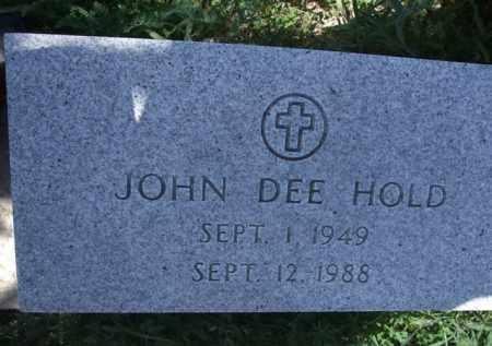 HOLD, JOHN DEE - Pima County, Arizona | JOHN DEE HOLD - Arizona Gravestone Photos