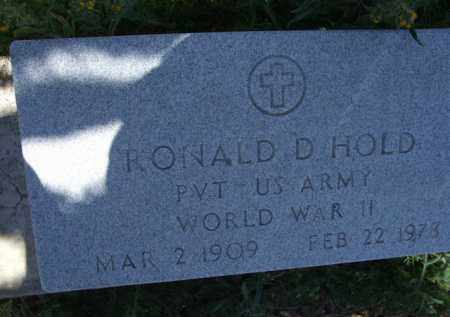 HOLD, RONALD D. - Pima County, Arizona | RONALD D. HOLD - Arizona Gravestone Photos