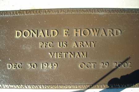 HOWARD, DONALD E. - Pima County, Arizona | DONALD E. HOWARD - Arizona Gravestone Photos