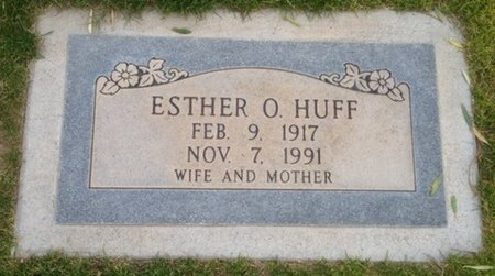 HUFF, ESTHER O. - Pima County, Arizona   ESTHER O. HUFF - Arizona Gravestone Photos
