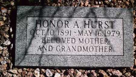 HURST, HONOR A. - Pima County, Arizona | HONOR A. HURST - Arizona Gravestone Photos